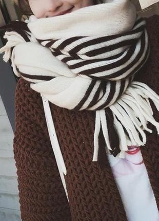 Стильний теплий шарф 778н