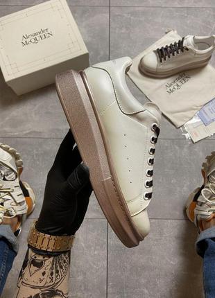 Шикарные женские кроссовки 🔥 alexander mcqueen white brown