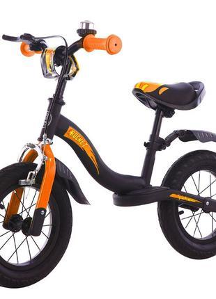 Детский беговел Велобег Велосипед без педалей Rocket 12 дюймов...
