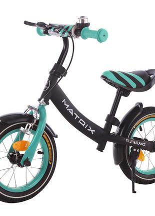 Детский беговел Велобег Велосипед без педалей Matrix 12 дюймов...