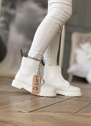 Dr.martens white 🆕 осенние ботинки доктор мартинс 🆕 купить нал...