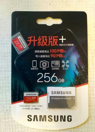 Карта памяти microSD Samsung EVO Plus UHS-1 U3 256 GB