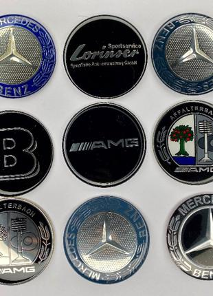 Эмблема на руль капот Mercedes w124/w210/202/w203/w204/140/211...