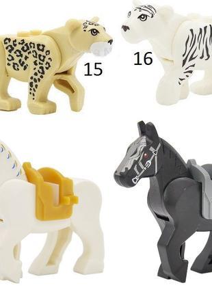 Фигурки животных животные Тигр,Лев,Пантера City лошадь Дупло л...