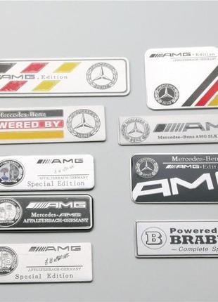 Эмблема шильдик Наклейка Mercedes-Benz A,AMG GT,B,C,CLA,CLC,CL...