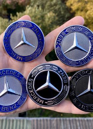 Шильдик/эмблема на капот Mercedes w124/w210/w202/w203/w204/w14...