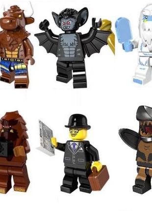 Фигурки спецназовцев SWAT полиция BrickArms Лего Lego мотоцикл