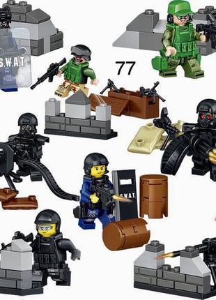 #77 Фигурки swat спецназ военнослужащие солдаты лего Lego Bric...