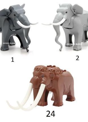 Фигурки животных животные City animal Дупло лего Lego Мамонт Слон