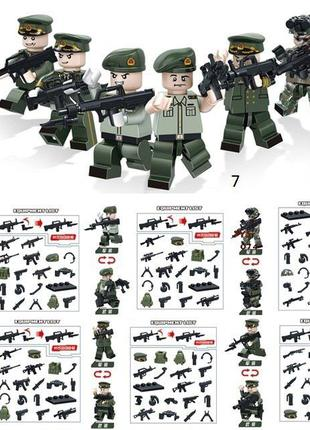#7 Фигурки SWAT спецназ военнослужащие солдаты лего Lego Brick...