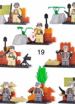 #19 фигурки немецких военных вермахт SWAT спецназ солдаты Лего...