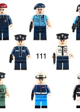 #111 фигурки полицейских swat спецназ военнослужащие армия лег...