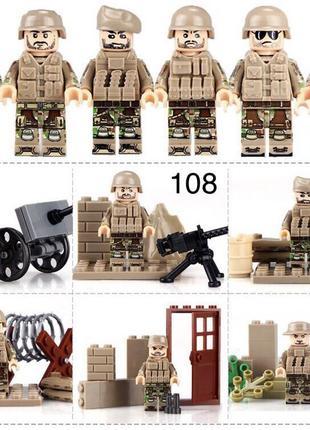 #108 фигурки военных второй мировой войны swat спецназовцы Лег...