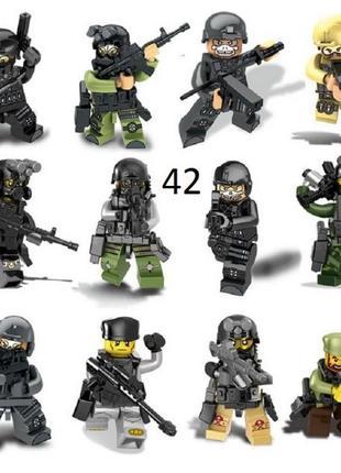 #42 Мини-фигурки swat спецназ военные солдаты Лего Lego BrickArms