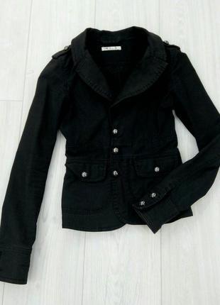 """Базовый интересный черный пиджак косуха """"h&m"""""""