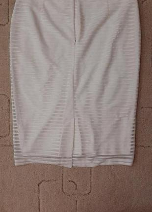 Белая юбка-карандаш. размер 14 (л)