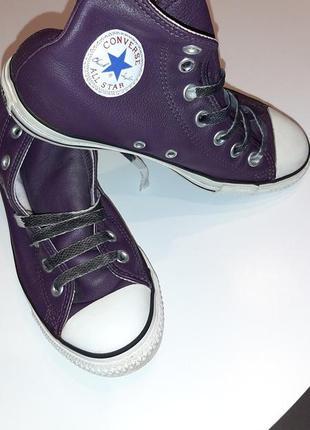 Крутейшие кеды кроссовки converse из натуральной кожи. размер 36.