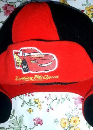 Детская шапка фирмы Дисней Тачки Маквин, для мальчика.
