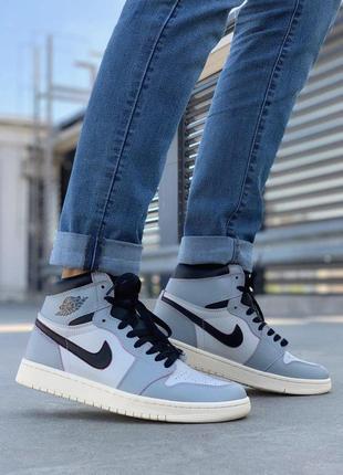 Чудесные кроссовки 💪 air jordan 1 retro gray 💪