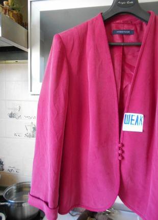 #windsmoor#винтажный роскошный розовый жакет 100% шелк #большо...