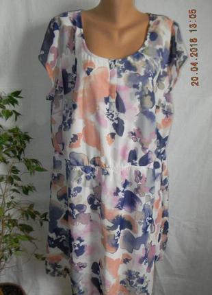 Красивое платье с принтом очень большого размера lebel