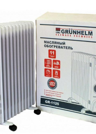 Масляний обігрівач GRUNHELM GR-1125/2,5 кВт