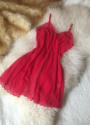 Красный пеньюар, накидка, lingerie, новый год 2020, ночная сор...