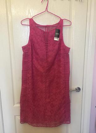 Очень красивое розовое платье, кружево, гипюр, сетка
