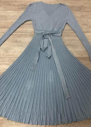 Миди платье с люрексовой нитью