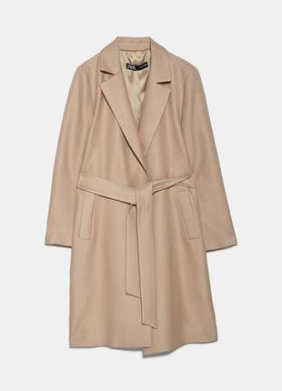 Пальто под пояс zara
