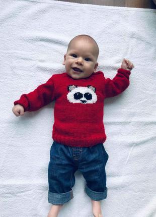 детские свитера, ручная работа