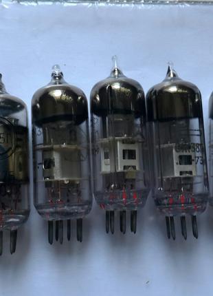 Отборная пара ламп 6ж38п к преампу замена 6j1