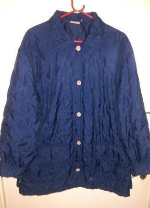 Стильная,стёганная,демисезонная,тёмно-синяя куртка,damart,боль...