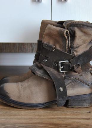 Кожаные сапожки ботинки pakros ** airstep /шкіряні черевики