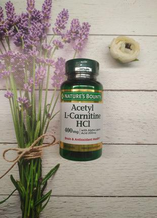 Nature's Bounty Acetyl L-Carnitine 400 mg plus ALA 200 mg 30 caps