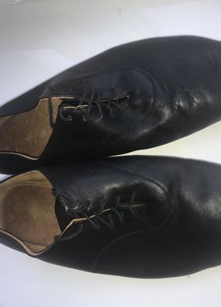 Туфли кожаные танцевальные чешки танцы 45 а на подарок смотрит...