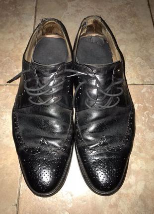 Туфли ботинки кожа чёрные броги 30 ,3см на подарок смотрите др...