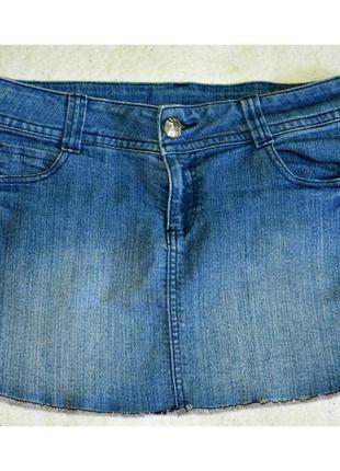 Джинсовая мини-юбка tally weijl с необработанным краем