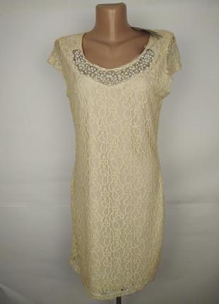 Платье новое кружевное красивое с ожерельем uk 14/42/l