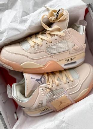 Nike jordan 4 x off white cream  🆕 женские кроссовки 🆕 купить ...