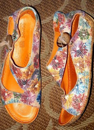 Розпродаж! круті шкіряні босоніжки німецького бренду gemini