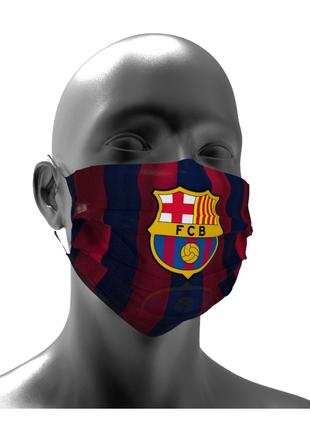 Тканевая маска для лица ФК Барселона детские и взрослые
