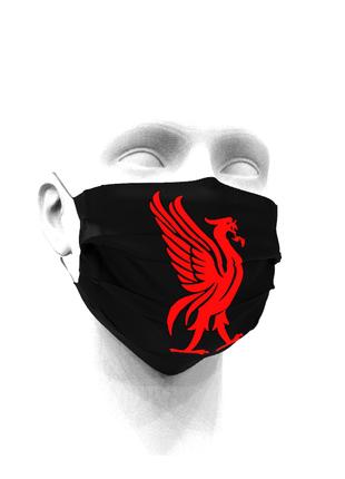 Тканевая маска для лица ФК Ливерпуль детские и взрослые