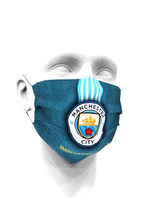 Тканевая маска для лица ФК Манчестер Сити детские и взрослые