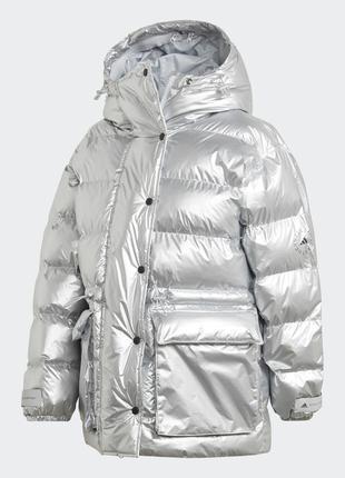 Утепленная куртка adidas by stella mccartney mid puffer fu3608