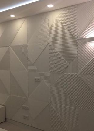 3D панели из гипса для стен, отделка стен, декор стен