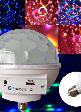 Светомузыка диско шар с цоколем Magic Ball Music MP3 плеер с b...