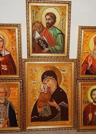 Иконы из янтаря картины(Портрет,ікони)КАРТИНИ З БУРШТИНУ