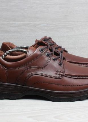 Кожаные мужские туфли clarks extrawide оригинал, размер 44