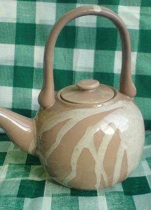 чайник фарфоровый (объем 1л) [новый]